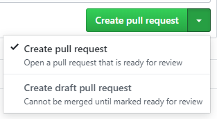 draft pull request