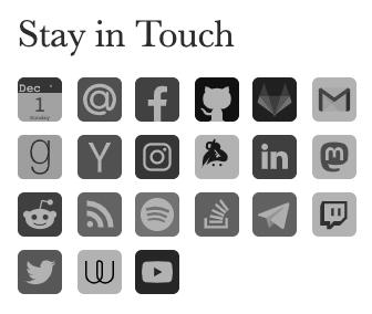 Social Profiles in the Sidebar